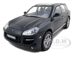 2008 Porsche Cayenne Turbo Metallic Black 1/18 Diecast Model Car Motormax 73179