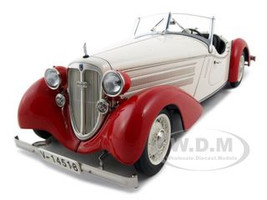 1935 Audi Front 225 Roadster White/Red 1/18 Diecast Model Car 1 of 4000 Made CMC M075C