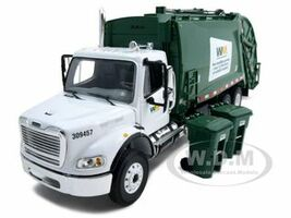 Freightliner MR Rear Load Refuse Garbage Truck Waste Management With Bins Diecast Model 1/34 First Gear 10-3287 T