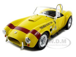 1965 Shelby Cobra Terlingua Racing Team Yellow 1/18 Diecast Car Model Shelby Collectibles 127