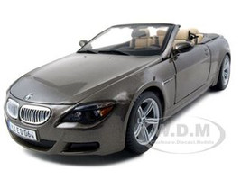 BMW M6 Convertible Bronze 1/18 Diecast Model Car Maisto 31145