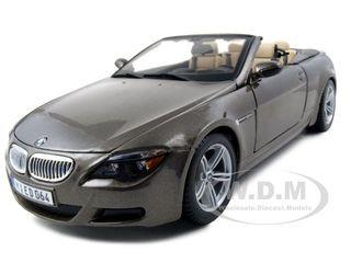 BMW M6 Convertible Bronze 1/18 Diecast Model Car Maisto 31145