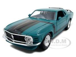 1970 Ford Mustang Boss 302 Green 1/24 Diecast Model Car Maisto 31943