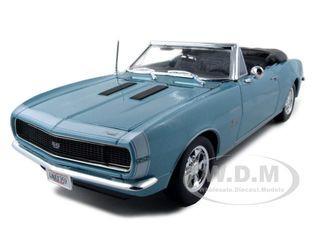 1967 Chevrolet Camaro SS 396 Convertible Turquoise 1/18 Diecast Model Car Maisto 31684