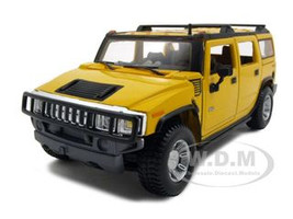 2003 Hummer H2 SUV Yellow 1/27 Diecast Model Car Maisto 31231