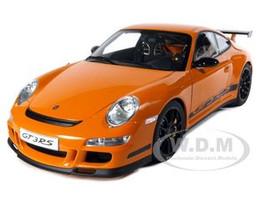 Porsche 911 (997) GT3 RS Orange 1/12 Diecast Model Car Autoart 12117