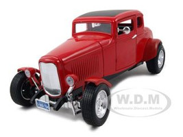 1932 Ford Coupe Red 1/18 Diecast Model Car Motormax 73171