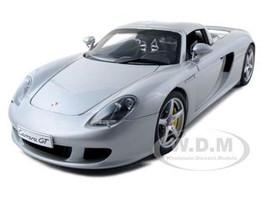 Porsche Carrera GT Silver with Black Interior 1/18 Diecast Car Model Autoart 78046