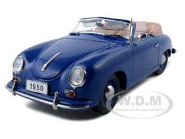 1950 Porsche 356 Convertible Blue 1/18 Diecast Model Car Signature Models 38201