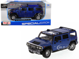 Hummer H2 SUV Blue 1/27 Diecast Model Car Maisto 31231