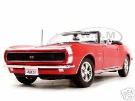 1967 Chevrolet Camaro SS 396 Convertible Red 1/18 Diecast Model Car Maisto 31684