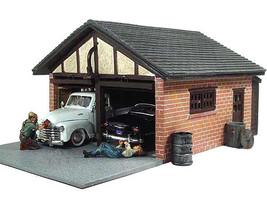 Double Garage Diorama Light 1/24 Scale Models American Diorama 51591
