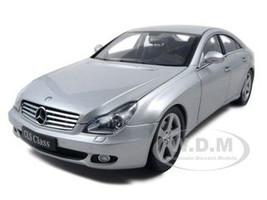 2005 Mercedes CLS Diecast Car Model 1/18 Silver Die Cast Car by Kyosho