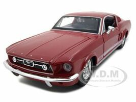 1967 Ford Mustang GT Red 1/24 Diecast Model Car Maisto 31260