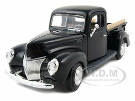 1940 Ford Pickup Black 1/24 Diecast Model Car Motormax 73234