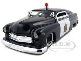 1951 Mercury Police 1/24 Diecast Model Car Jada 92454