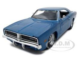 1969 Dodge Charger R/T Hemi Blue 1/25 Diecast Model Car Maisto 31256