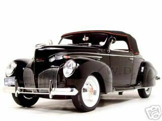 1939 Lincoln Zephyr Black 1/18 Diecast Model Car Signature Models 18102