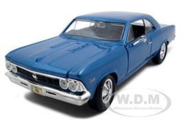 1966 Chevrolet Chevelle SS 396 Blue 1/24 Diecast Model Car  Maisto 31960