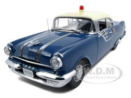 1955 Pontiac Star Chief Police Platinum Edition 1/18 Diecast Model Car Sunstar 5046