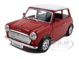 1969 Mini Cooper Red 1/24 Diecast Model Car Bburago 22011