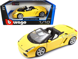 Lamborghini Gallardo Spyder Yellow 1/18 Diecast Model Car Bburago 12016