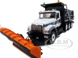 Mack Granite MP Dump Truck With Plow & Spreader Arapahoe County Sheriff Diecast Car Model 1/34 by First Gear