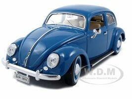 1955 Volkswagen Beetle Kafer Blue 1/18 Diecast Model Car Bburago 12029