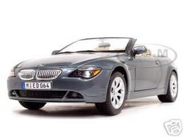 BMW 645 CI Convertible Grey 1/18 Diecast Model Car by Maisto