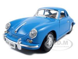 1961 Porsche 356B Coupe Blue 1/18 Diecast Model Car Bburago 12026