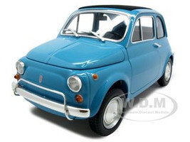 1968 Fiat 500L Diecast Car Model 1/18 Blue Die Cast Car by Minichamps