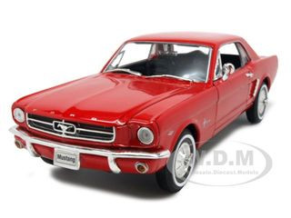 1964 1/2 Ford Mustang Coupe Hard Top Red 1/24 1/27 Diecast Model Car Welly 22451
