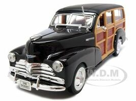 1948 Chevrolet Woody Fleetmaster Brown 1/24 Diecast Car Model Welly 22083