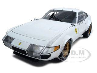 Ferrari 365 GTB4 Competizione White 1/18 Diecast Model Car Kyosho 08163