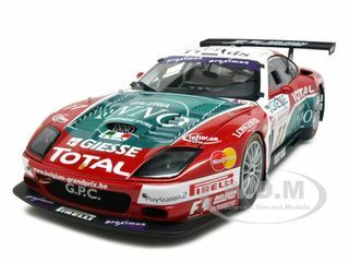Ferrari 575 GTC Team Spa-Francochamps 2004 #11 1/18 Diecast Car Model Kyosho 08393