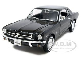 1964 1/2 Ford Mustang Coupe Hard Top Black 1/24 1/27 Diecast Model Car Welly 22451