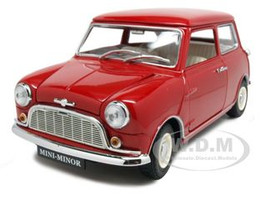 Morris Mini Minor Red 50th Anniversary 1/18 Diecast Model Car Kyosho 08105