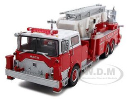 Mack CF Aerialscope Fire Engine Red and White Limited Edition 1500 pieces Worldwide 1/64 Diecast Model Code 3 12578