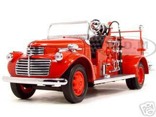 1941 GMC Fire Engine Red 1/24 Diecast Model Car Road Signature 20068