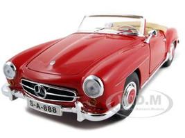 1955 Mercedes 190 SL Red 1/18 Diecast Car Model Maisto 31824