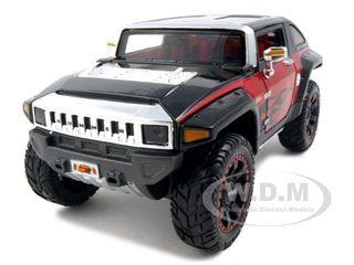 "2008 Hummer HX Concept Black/Red ""All Stars"" 1/24 Diecast Model Car Maisto 31309"