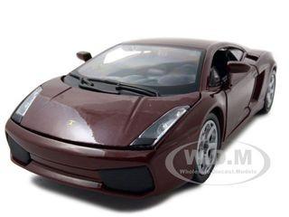 Lamborghini Gallardo Burgundy 1/24 Diecast Car Model Bburago 22051