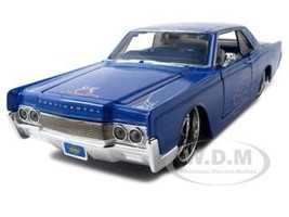 "1966 Lincoln Continental Blue ""Pro Rodz"" 1/26 Diecast Model Car Maisto 31037"