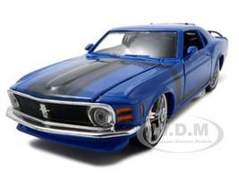 "1970 Ford Mustang Boss 302 Blue ""Pro Rodz"" 1/24 Diecast Model Car Maisto 31329"
