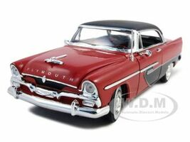 1956 Plymouth Savoy Red 1/32 Diecast Model Car Signature Models 32341