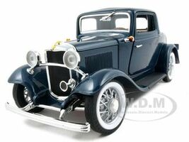 1932 Ford 3 Window Coupe Blue 1/18 Diecast Car Road Signature 92248