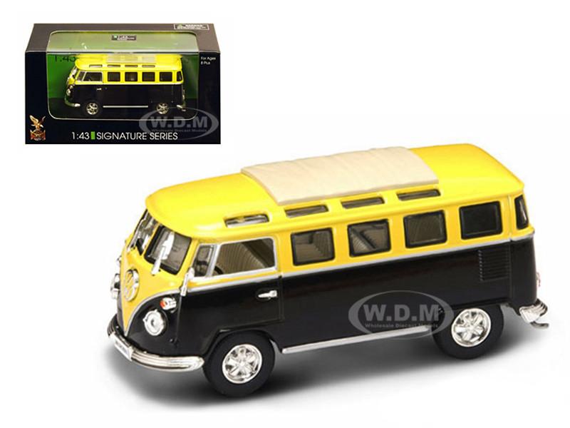 1962 Volkswagen Microbus Van Bus Yellow/Black 1/43 Diecast Car Road Signature 43209