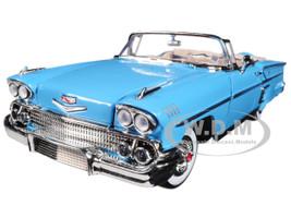 1958 Chevrolet Impala Convertible Light Blue Timeless Classics 1/18 Diecast Model Car Motormax 73112
