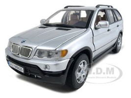 BMW X5 Silver 1/18 Diecast Model Car Motormax 73105