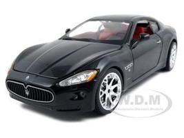 2008 Maserati Gran Turismo Black 1/24 Diecast Car Model Bburago 22107